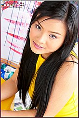 Thai Girls Long Black Hair Pretty Smiling Face
