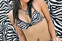 Cathy Rawn Strips Zebra Print Outfit And Spreads Her Legs
