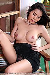 Looking Down At Bare Breasts Upskirt Panties