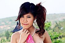 Breasty Thai Teen Stripping And Playing With Vibrator