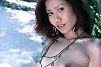 Skinny Miki Sukawa Stripping Dress And Posing Nude
