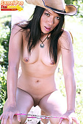 Samei Poo Squatting Nude Long Hair Pert Tits Pulling Panties Down Shaved Pussy