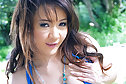 Breasty cutie Tle Aree strips on ladder and plays with vibrator