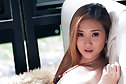 Pretty Lita Charat strips dress on couch and plays with vibrator