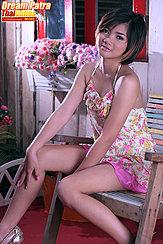 Seated Wearing Dress Short Hair