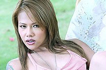 Beauty Cherry Chen Stripping Outdoors And Playing With Vibrator