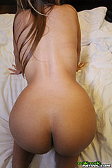On All Fours Naked In Doggy Style Position Long Hair Over Her Back Nice Ass