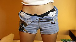 Denim Shorts Unbuttoned